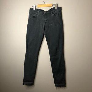 Current Elliott black raw hem jeans size 30 skinny